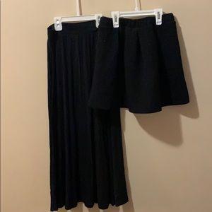 Girls Black Skirt bundle of 2, size Large 10-12